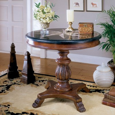 Accent Foyer Table w Sunburst Inlay