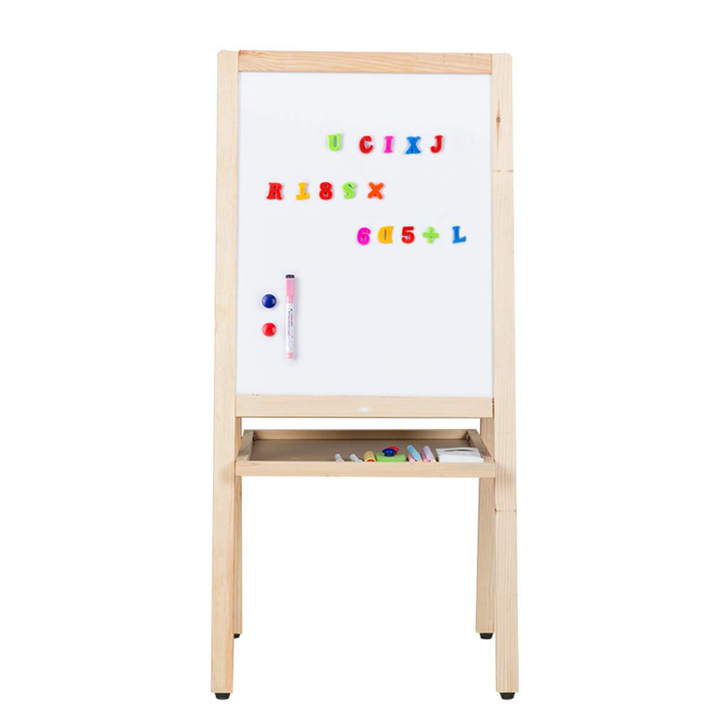 Caballete BSNOWF Plegable Magnético De Doble Cara Tablero De Dibujo De Almacenamiento De Madera Educación Infantil Accesorios (Tamaño : Height-90cm)