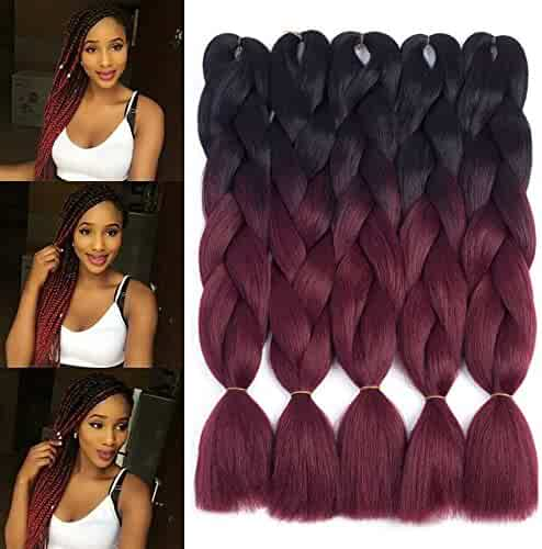 Hair Extensions & Wigs Nice 1 Pack Synthetic Braiding Hair Extension 100g 24in Long Kanekalon Jumbo Braids Crochet Hair Heat Resistant Black Brown Gray Blue Catalogues Will Be Sent Upon Request