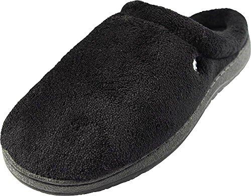 Pantofole Perry Ellis Mens Clog Nero / Plaid