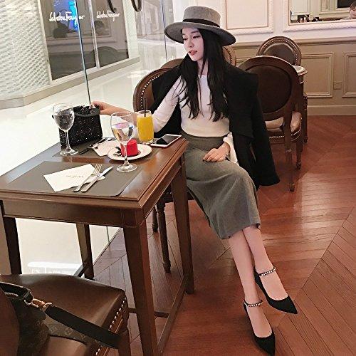 36 principessa da Nero e scarpe donna spillo con piccole a High appuntite Scarpe da heels t6wxg