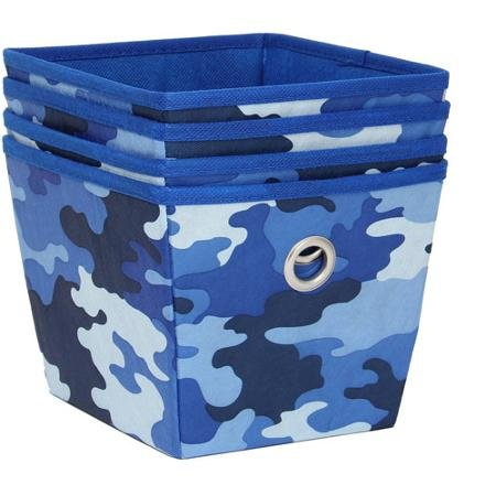 Mainstays Non-Woven Storage bins Bins, 4-Pack, Camo