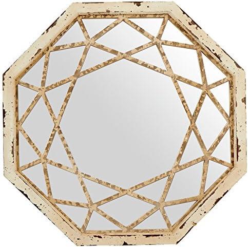 Amazon Brand Stone Beam Vintage-Look Octagonal Hanging Wall Mirror Decor