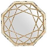 Stone & Beam Vintage-Look Octagonal Mirror, 25.5'' H, Antique White