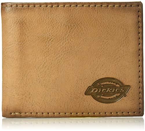 Dickies Men's RFID Extra Capacity Slimfold Wallet, brown, One Size
