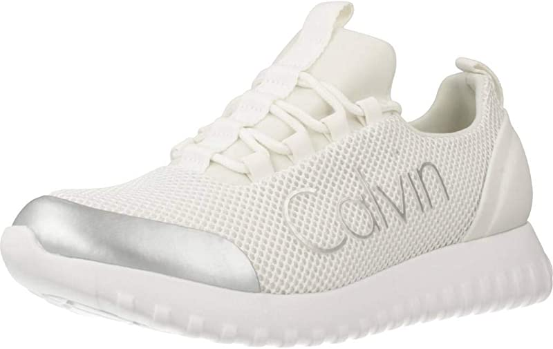 Calvin Klein Reika Noir Sneakers Damen Weiß/Silber