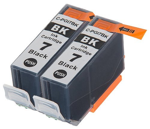 2 Pack Compatible Canon PGI-7 2 Big Black for use with Canon IX7000 RFB, PIXMA MX7600, PIXMA iX7000. Ink Cartridges for inkjet printers. PGI-7-BK © Blake Printing (Pixma Ix7000 Inkjet Printer)