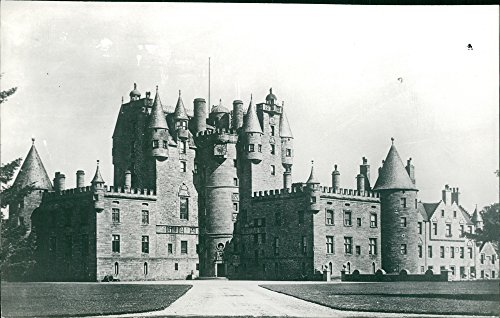 Vintage photo of Glamis Castle