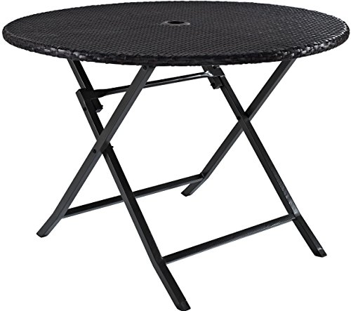 Folding Wicker - Crosley Furniture CO7205-BR Palm Harbor Outdoor Wicker Folding Table - Brown
