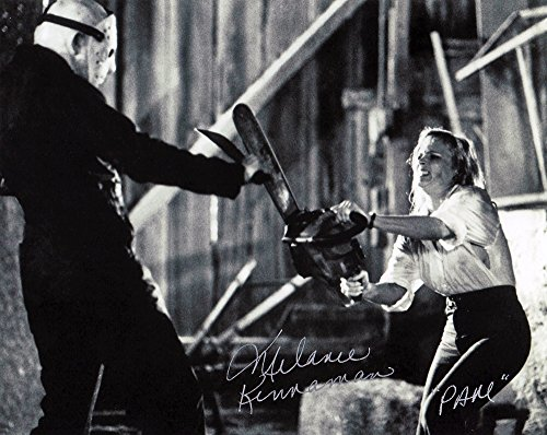 "Melanie Kinnaman Hand Signed 8x10 Photo Friday the 13th Part 5: A New Beginning""Pam with Chainsaw"" Original New Autograph B&W Print Jason Voorhees Horror Movie (Official)"
