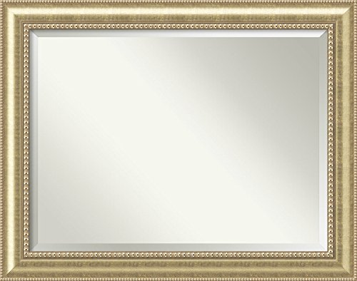 Framed Mirrors for Wall | Astoria Champagne Mirror for Wall | Solid Wood Wall Mirrors | X-Large Wall Mirror 47.00 x 37.00