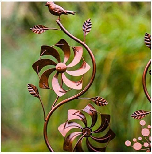 Jonart Design - Molinillo de viento doble para jardín o patio: Amazon.es: Hogar