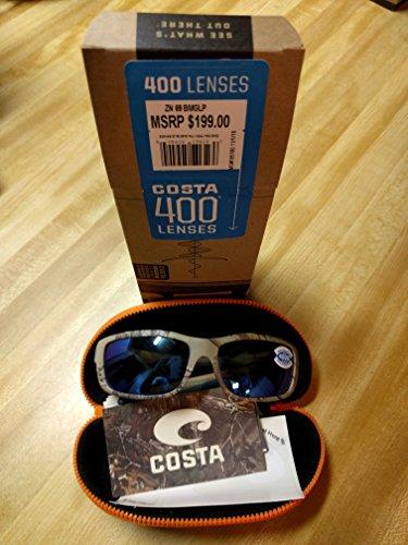 Costa Del Mar Zane Sunglasses, Realtree Xtra Camo, Green Mirror 400G - Costa Lenses 400