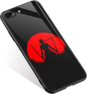 iPhone 8 Case,Anime Cartoons 389 Pattern Design iPhone 7 iPhone SE 2020 Cases, Tempered Glass Back + Soft Silicone TPU Shock Absorption Bumper Protective Case Compatible for iPhone 8/7/SE2