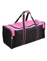 36 Inch Heavy Duty 3-Pocket Hockey Bag Pink