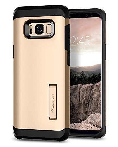 Spigen Tough Armor Galaxy S8 Plus Case with Kickstand and Extreme Heavy Duty Protection and Air Cushion Technology for Galaxy S8 Plus (2017) - Maple Gold