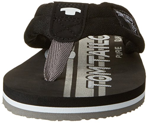 TOM TAILOR Herren 2781601 Zehentrenner Schwarz (Black-Grey)