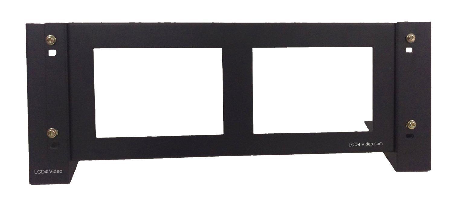 LCD4Video QR2 Dual 7'' Rack Mount LCD Monitor Kit
