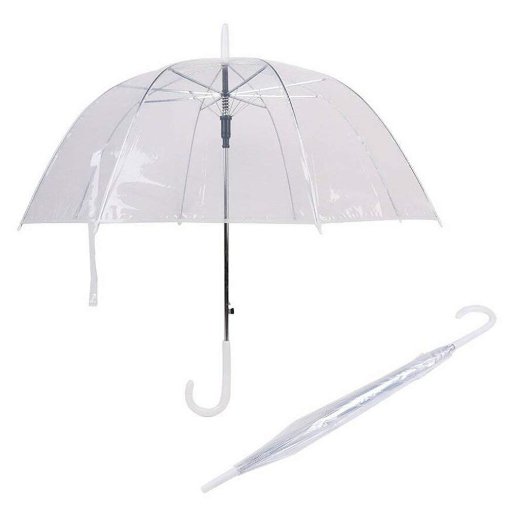 S2S® Transparent Clear Dome Rain Umbrella Mushroom Umbrella