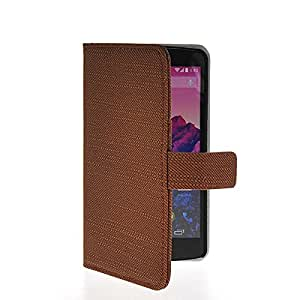 GUANHAO Slim Wallet Card Pouch Flip Leather Etui Stand Case Cover For LG Google Nexus 5 Brown