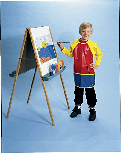 School Smart Full Protection Vinyl Smock, 3 to 6 Years, Multiple -
