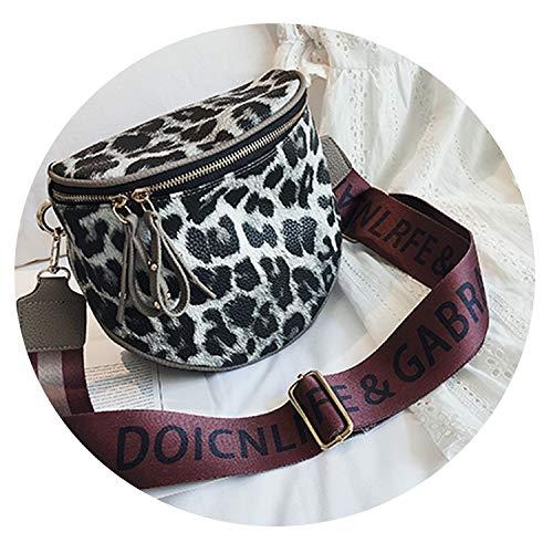 Leopard print women's pu leather bag handbags messenger bags women shoulder bag,Leopard white,18x10x20cm