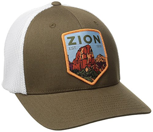(Columbia National Parks Mesh Hat, Camo Brown/Zion, Small/Medium)