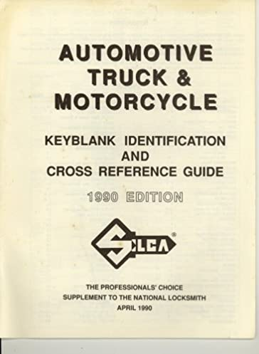 automotive truck motorcycle key blank identification and cross rh amazon com good service guide inc good service guide inc