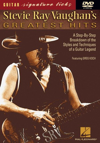 stevie ray vaughan 39 s greatest hits signature licks dvd from hal leonard corp at the blues. Black Bedroom Furniture Sets. Home Design Ideas