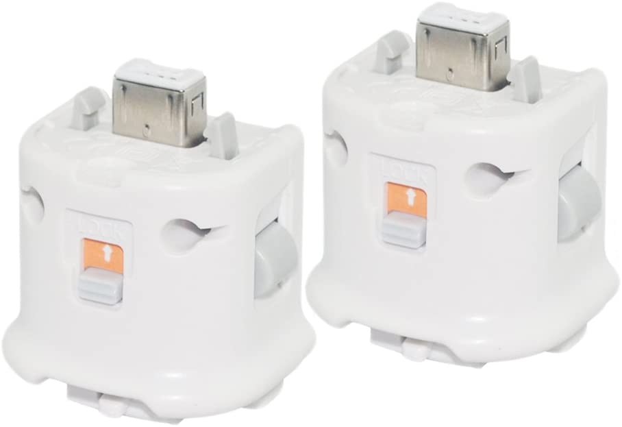 YFisk 2pcs Adaptador Motion Plus Reemplazo para Nintendo Wii Remoter Controller Blanco