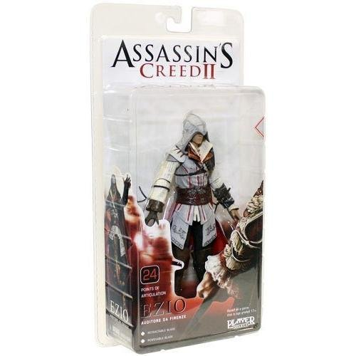 NECA Player Select Assassin's Creed 2 ASSASSIN'S CREED2 7 Inch Action Figure Ezio Auditore (white (Assassins Creed 2 Costume)