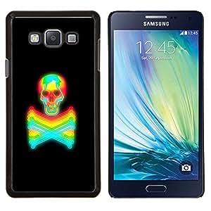 TECHCASE---Cubierta de la caja de protección para la piel dura ** Samsung Galaxy A7 ( A7000 ) ** --Tóxico Mantener alejado Crossbones Cráneo