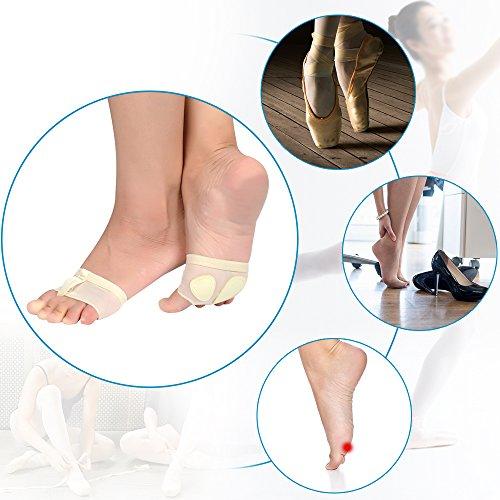 Soumit Soumit Metatarsal Dyna, Som Kan Andas Fot Tå Praktiken Skydd Rem Strumpor För Belly Balett Latin Dans Slitage (s Eu35-36 / Uk3-4)