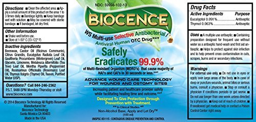Biocence Anti-Pathogenic Selective Multi-use Advance Wound Care and Antiseptic Droplets (100ml) with Spray Bottle Made in The USA by Biocence (Image #2)