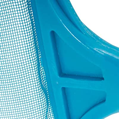 U.S. Pool Supply Swimming Pool 6 Foot Leaf Skimmer Net with 5 Connecting Aluminum Pole Sections - Fine Mesh Netting for Fast Cleaning of Debris - Clean Spas & Ponds