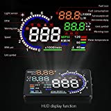 color tree Head Up Display for Car-A8 5.5 inch OBD2 Car Windshield HUD Head Up Display with Speed Fatigue Warning RPM MPH Fuel
