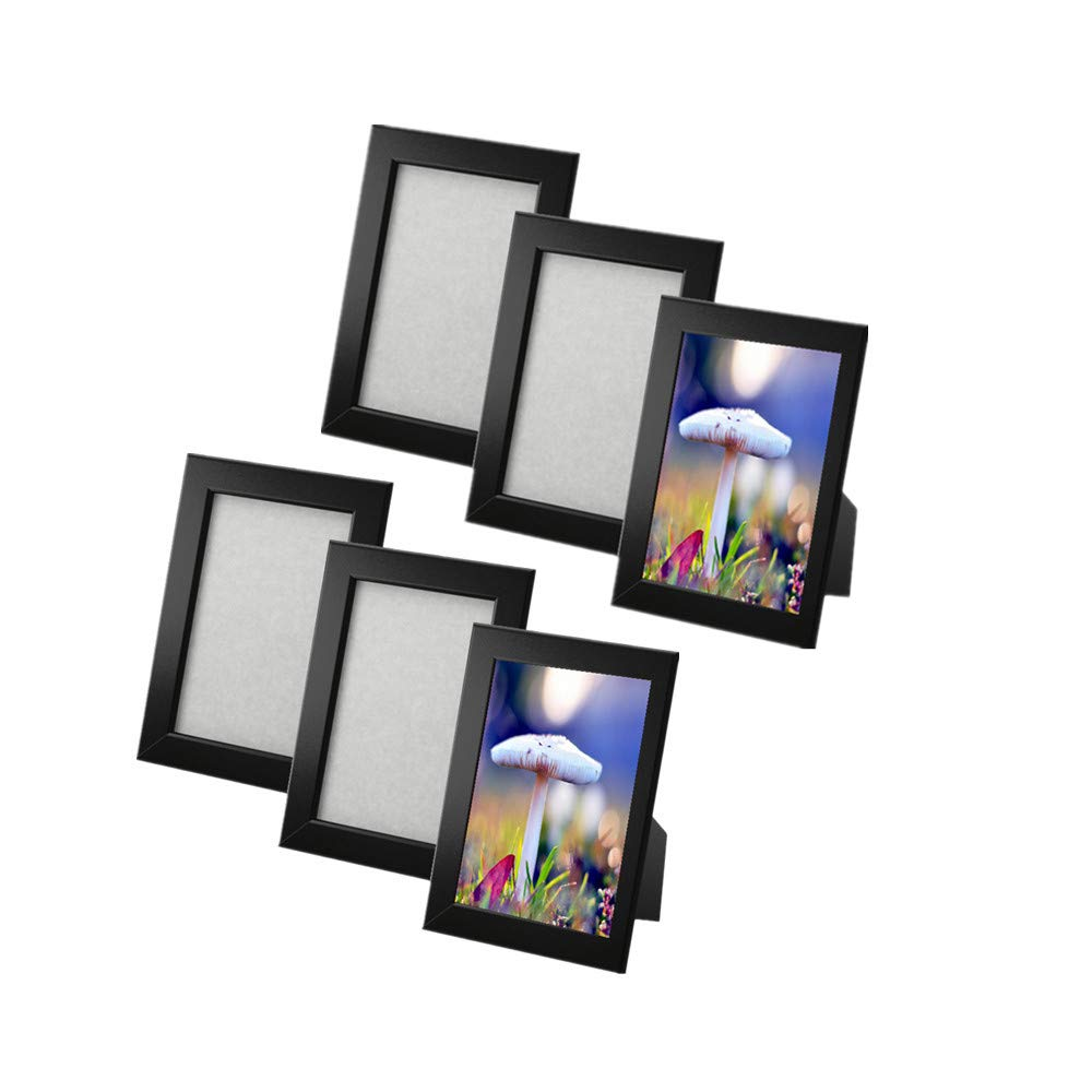 New frame photo picture 5x7 or 4x6 Multicolor FISKBO, set of 6 (5X7, black)