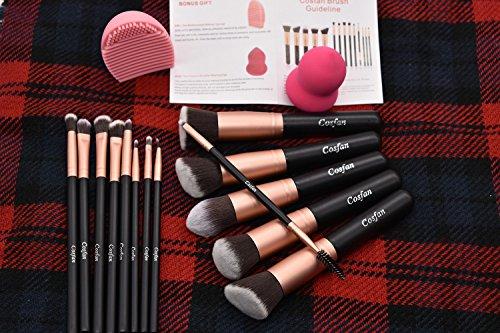Makeup Brushes Powder Foundation Concealer Eyeliner Makeup Brush Set Cosmetics Tool (14 PCS Rose Gold)