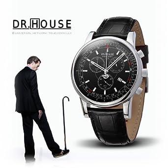 Kronsegler DR.HOUSE Herren Chronograph stahl-schwarz