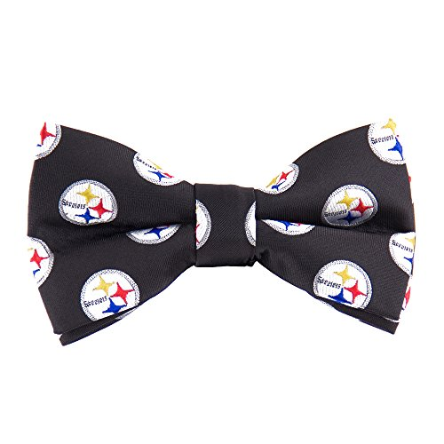 Eagles Wings NFL Pittsburgh Steelers Men's Woven Polyester Repeat Bowtie, One Size, Multicolor