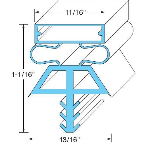 Kolpak - Manitowoc 533112565 DOOR GASKET, LH, 36 X 78 by Kolpak - Manitowoc