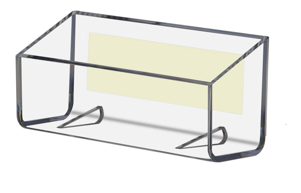 T'z Tagz Brand PEEL & STICK Business Card Holders, Clear 10 Pack Advert Display Products Inc