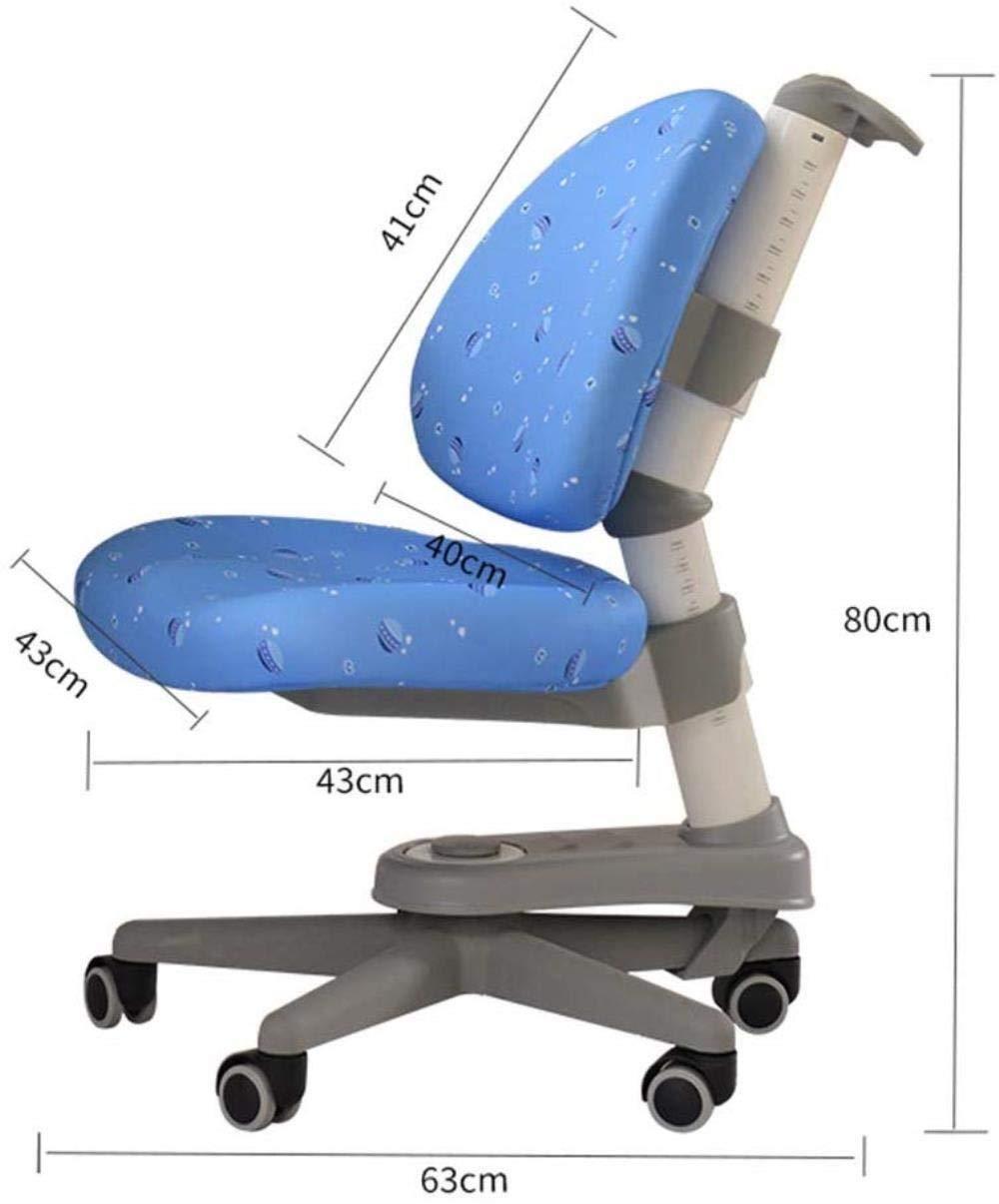 Xiuyun Korrigerande stol ryggstöd lyftbord hållning korrigeringsstol positiv dubbel rygg svängbar stol barn skrivbord pall lärande stol svängbar stol, (färg: A) a