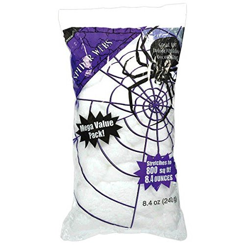 Amscan Stretchable Polyester Spider Web Halloween Trick Or Treat Big Pack Party Decoration, 240g, White ()