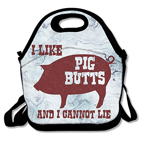 Nngsiko I Like Pig Butts And I Cannot Lie Lunch Bag Thermal Insulated Tote Picnic Lunch Cooler Box Pouch Picnic Bento (Pig Italian Charm)