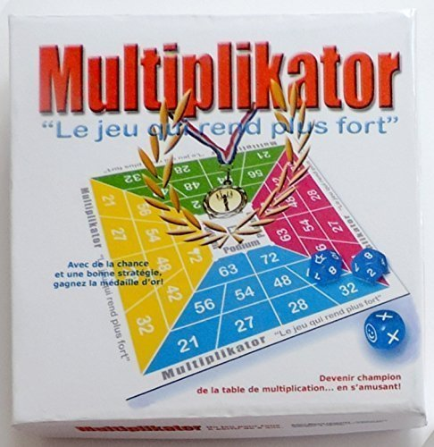 Jeu de dés pour apprendre la table de multiplication.