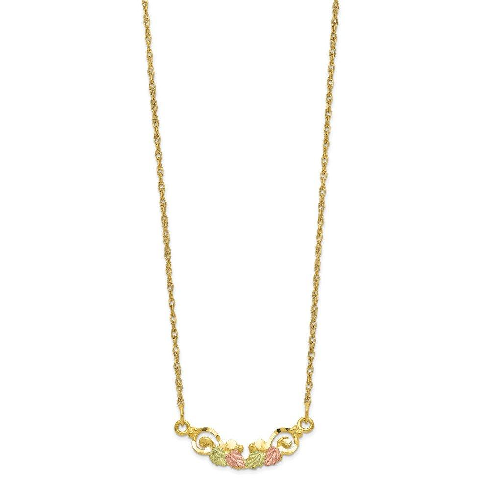 10k Tri-color Gold Black Hills Necklace 19inch