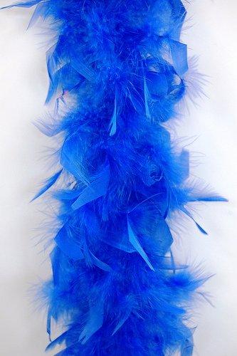 WGI 6' 40g Adult Feather Boa, Bright Blue