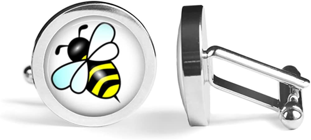 Honeybee Bee Cufflinks Angled Edition