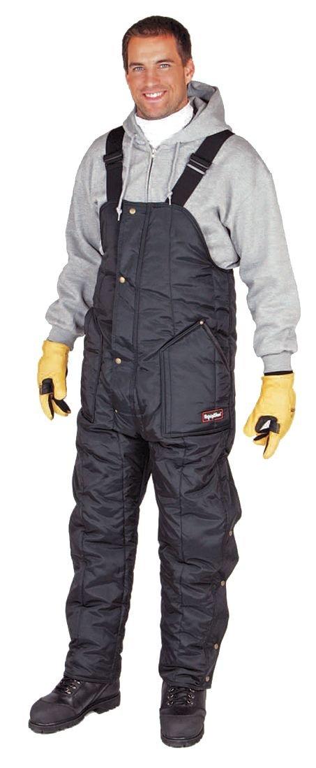 RefrigiWear Iron Tuff High Bib Overall Short, Navy, XL